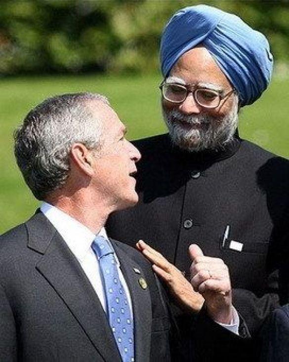 Манмоган Синґг і Джордж Буш
