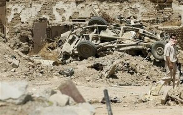 Рухни після вибуху, Ірак