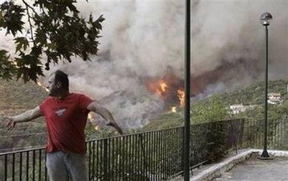 Пожежі в Греції
