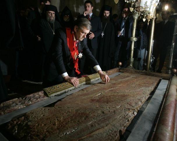 Ющенко став лицарем Гробу Господнього