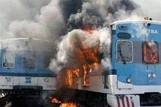 На Закарпатті загорілася електричка з пасажирами