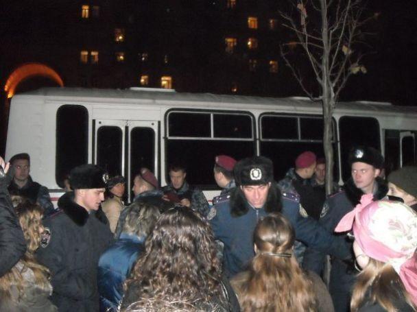 Як у Києві міліція розганяла протестувальників (відео, оновлено)
