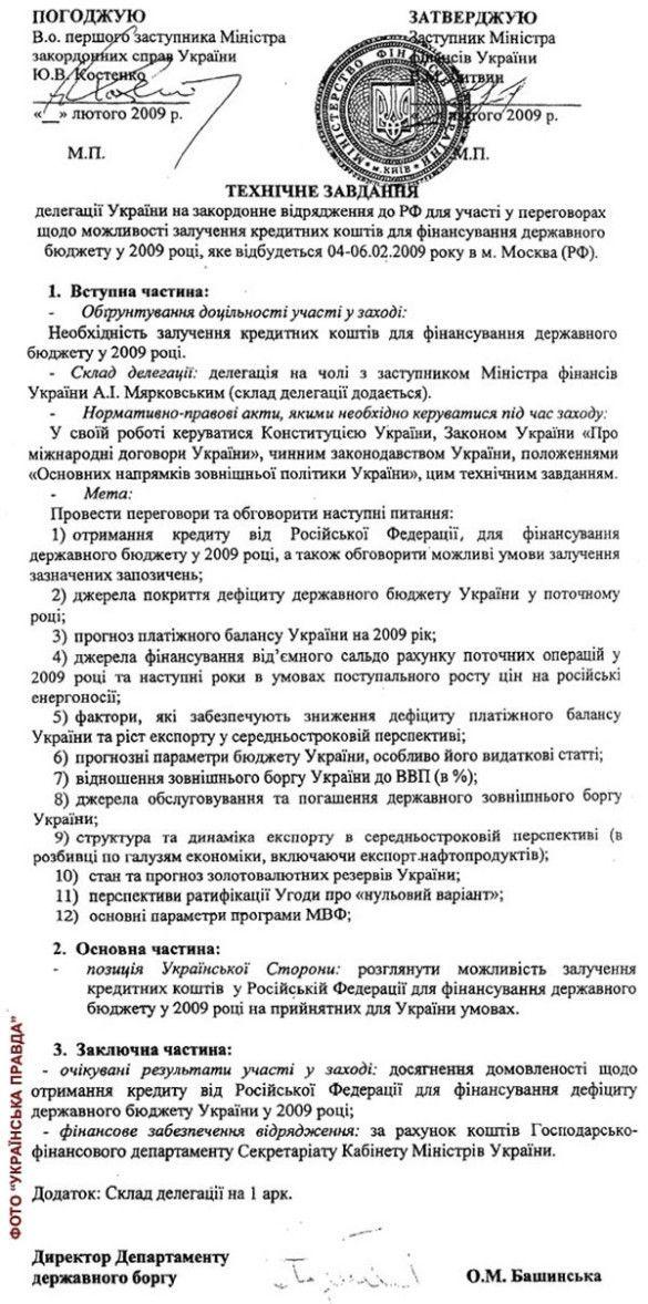 """""""Технічне завдання"""" делегації України"""