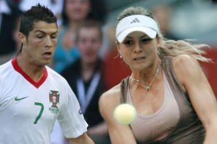 """Російська тенісистка """"запала"""" на Роналду"""