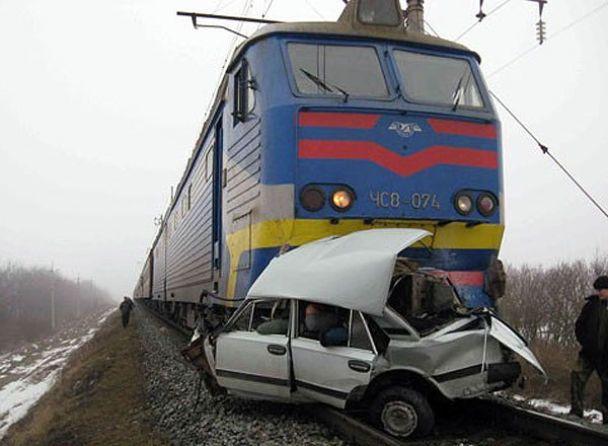 Поїзд зіткнувся з авто: загинули 2 людини
