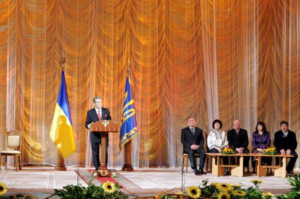 Ющенко роздав Шевченківські преміії
