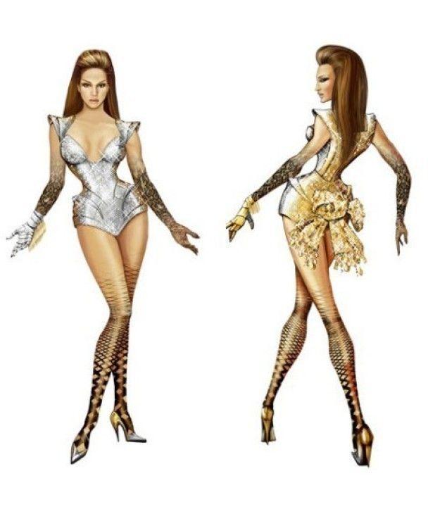 Бейонсе показала ескізи своїх відвертих костюмів