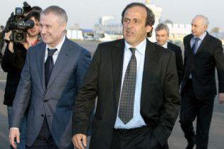 Делегація УЄФА на чолі з Мішелем Платіні прибула в Україну