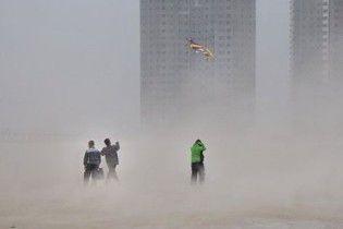 Китай охопили піщані бурі