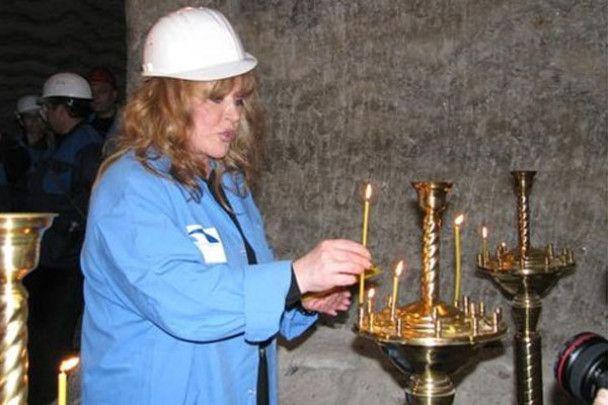 Алла Пугачова помолилась під землею