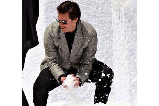 На Каннському фестивалі Джим Керрі грав у сніжки