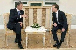 Ющенко поскаржився, що Мєдвєдєв його ігнорує