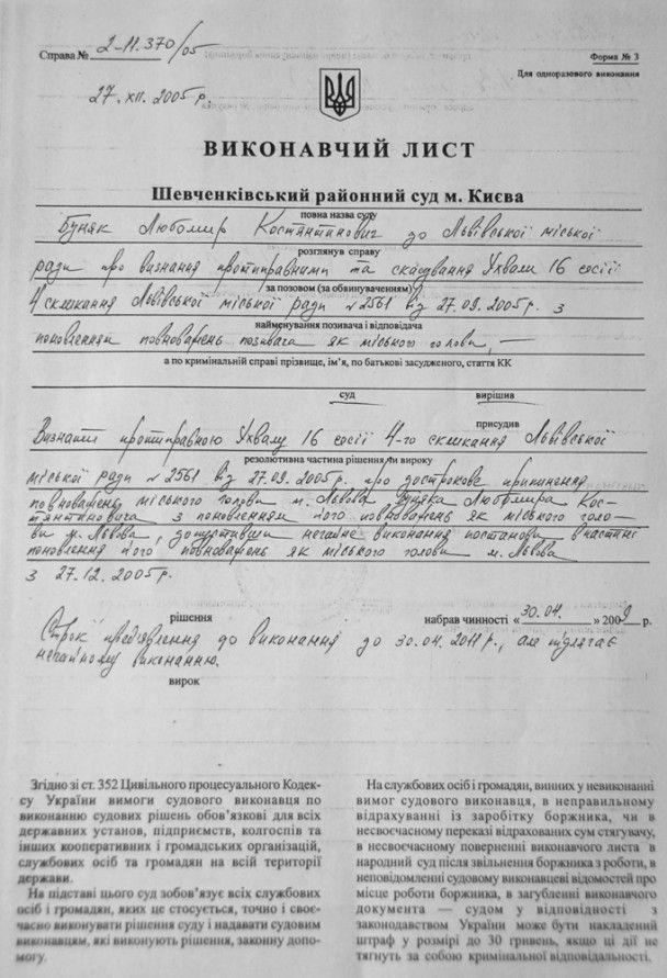 Суд поновив на посаді звільненого у 2005 році мера Львова