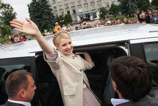 У кортежі Тимошенко шукали бомбу