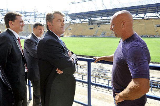 """Ющенко відвідав """"Металіст"""" з перевіркою"""