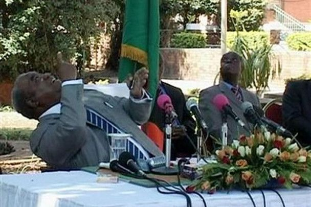 Мавпа обпісяла президента Замбії