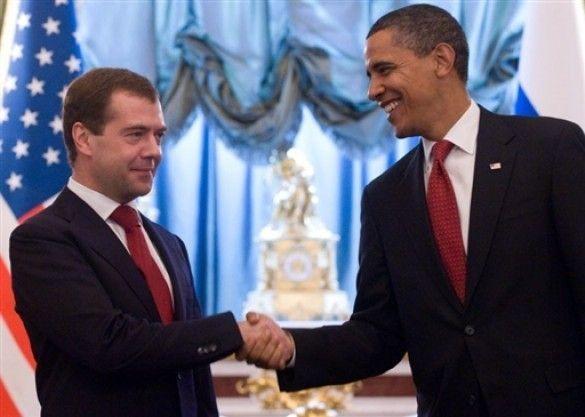 Обама та Мєдвєдєв в Кремлі