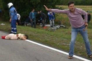 Мотоцикліст на Tour de France на смерть збив жінку-глядача