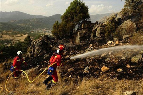 Лісові пожежі охопили південь Іспанії
