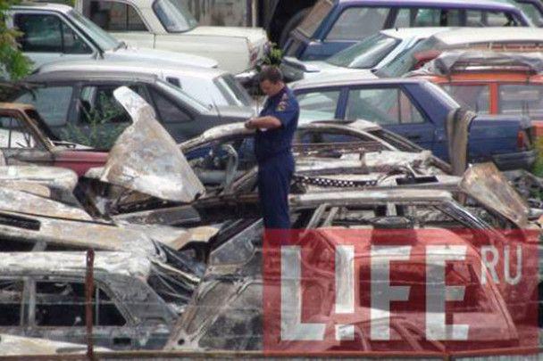 У Москві на штрафмайданчику згоріли майже 30 машин