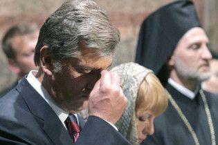 В храмах Тернопільщини моляться за Ющенка