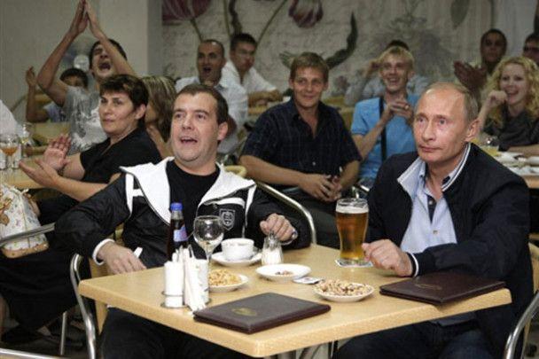 Мєдвєдєв і Путін розважились в Сочі