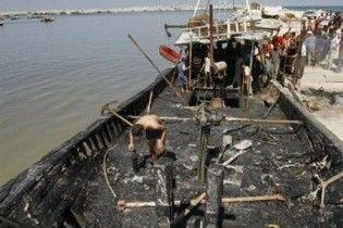 Ізраїльський корабель ВМС спалив рибальський човен