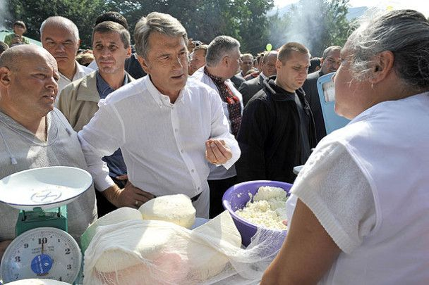 Ющенко поїхав до гуцулів по бринзу