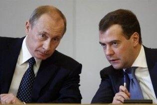 Вперше рейтинги Мєдвєдєва і Путіна зрівнялися