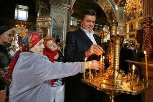 Януковича благословили в президенти в жіночому монастирі