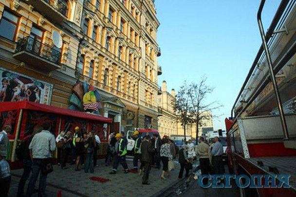 У центрі Києва горів розважальний заклад
