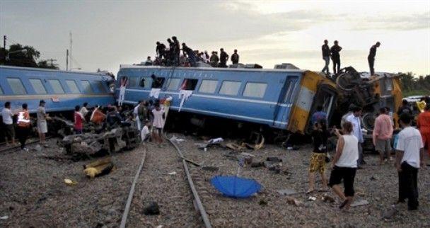 У Таїланді зійшов з рейок потяг: 7 загиблих, десятки поранених