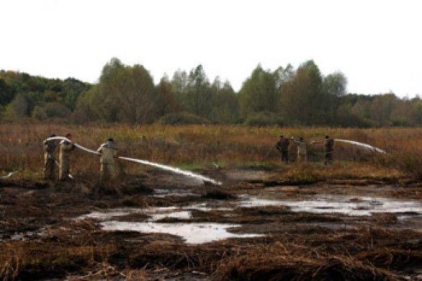 Пожежа на полтавських торф'яниках набула надзвичайних масштабів