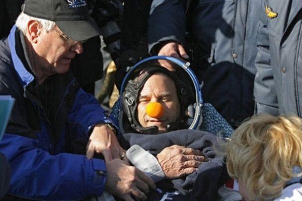 Космічний клоун повернувся на Землю