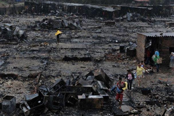 Пожежа знищила нетрі в Сан-Паулу