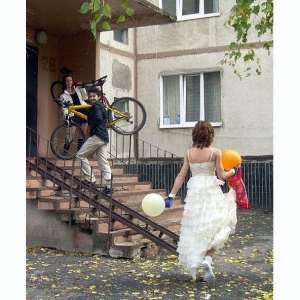 У Харкові пройшло весілля на велосипедах