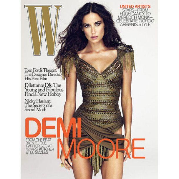 Демі Мур знялась для журналу W Magazine