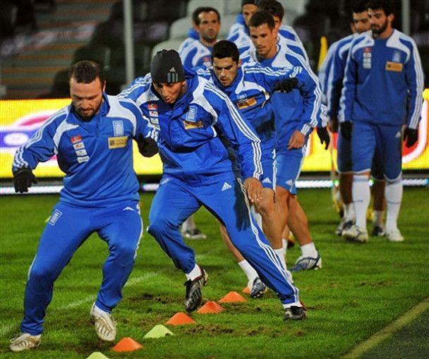 Українці та греки розім'ялись перед грою