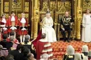 Королева Великобританії представила в тронній промові 14 нових законопроектів