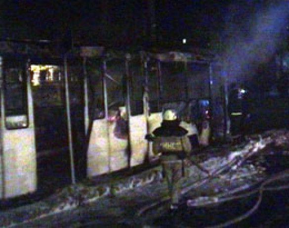 Трамвай згорів у Миколаєві