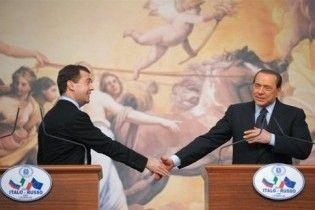Мєдвєдєв прилетів до Італії на запрошення Берлусконі