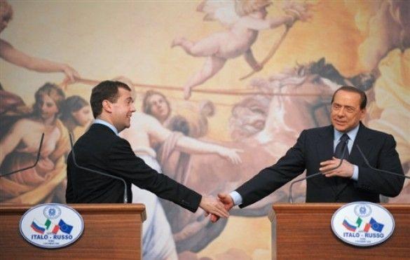 Мєдвєдєв та Берлусконі
