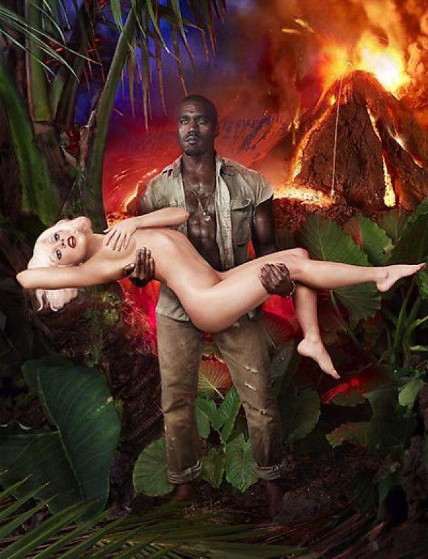 Гола Леді Гага знялась із Каньє Вестом у джунглях