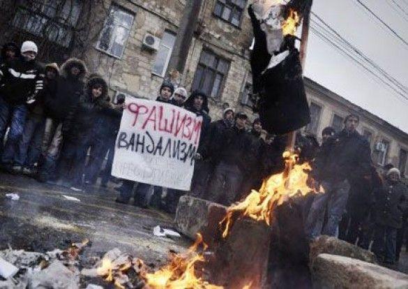 Акція проти Михайла Саакашвілі в Сімферополі