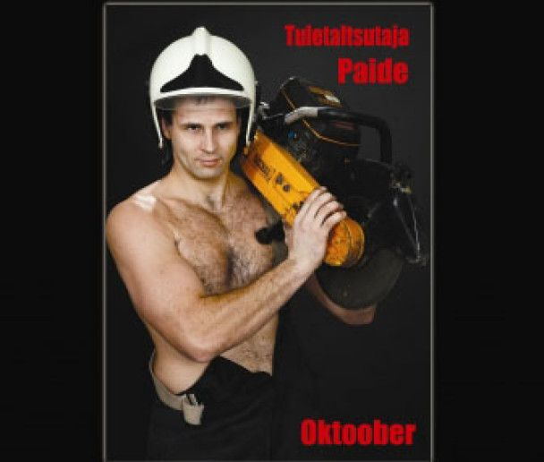 Естонські пожежники роздяглися для секс-календаря