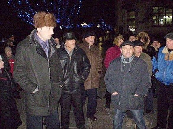 Мітинг в честь Сталіна