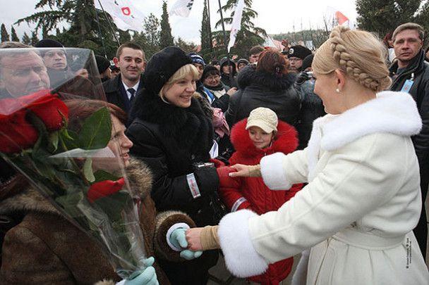 Тимошенко у Криму запалила факел