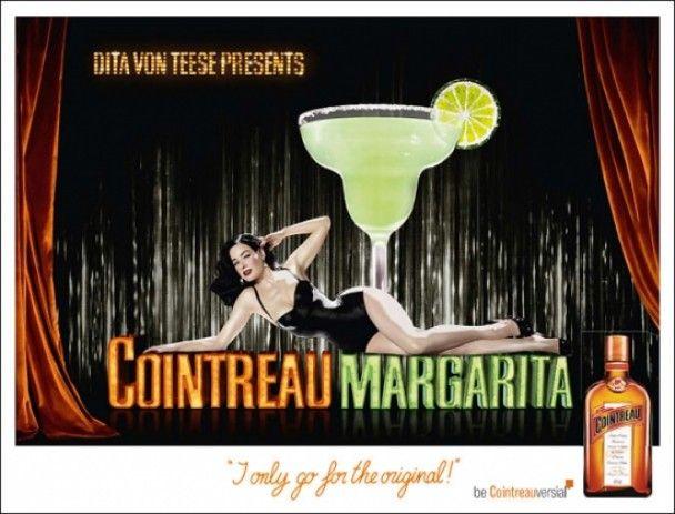 Діта фон Тіз рекламує свій коктейль