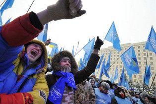 Партія регіонів готує 50-тисячний мітинг в центрі Києва