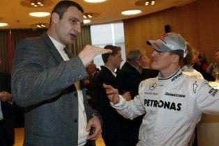 Кличко побажав Шумахеру стати чемпіоном світу у 2010 році